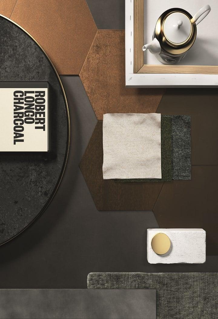 La ceramica si ispira al metallo ossidato e alterato dal tempo