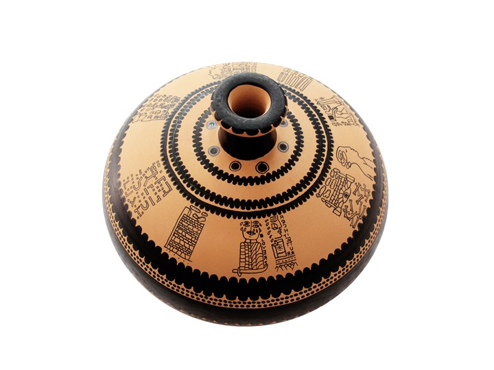 Kiasmo, vaso in terracotta