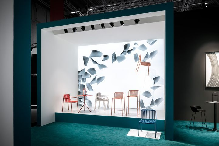 Pedrali exhibition space designed by Calvi Brambilla at Orgatec