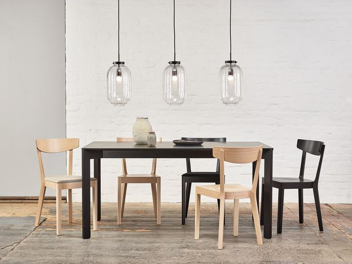 Prag chair and Lasa table by TON