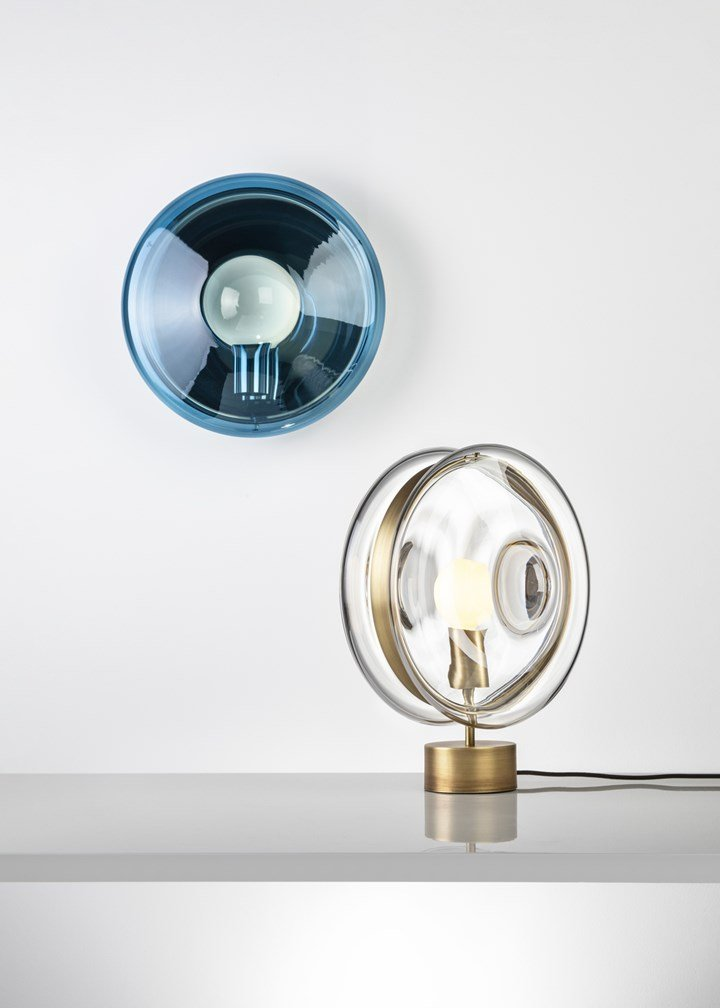 Orbital table and wall lamp by Bomma