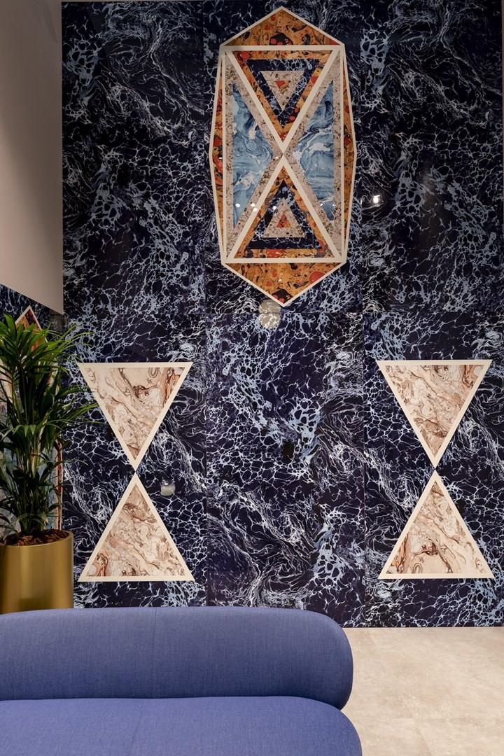 Araldica - Blasone Blu, Triangoli Blu, Base Blu - 120x240cm
