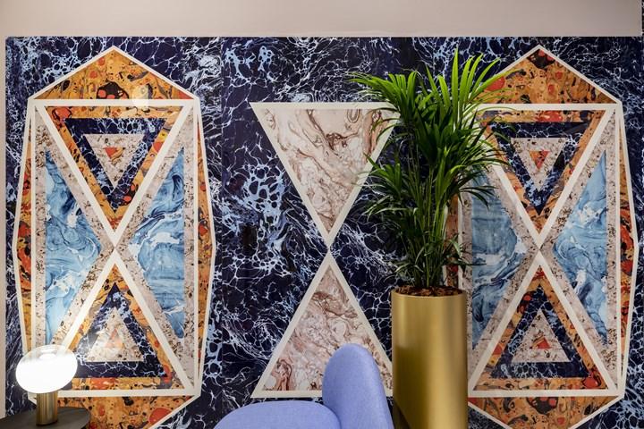 Araldica - Blasone Blu e Triangoli Blu - 120x240cm