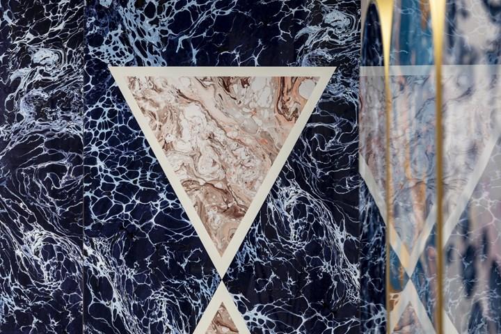 Araldica - Triangoli Blu - 120x240cm