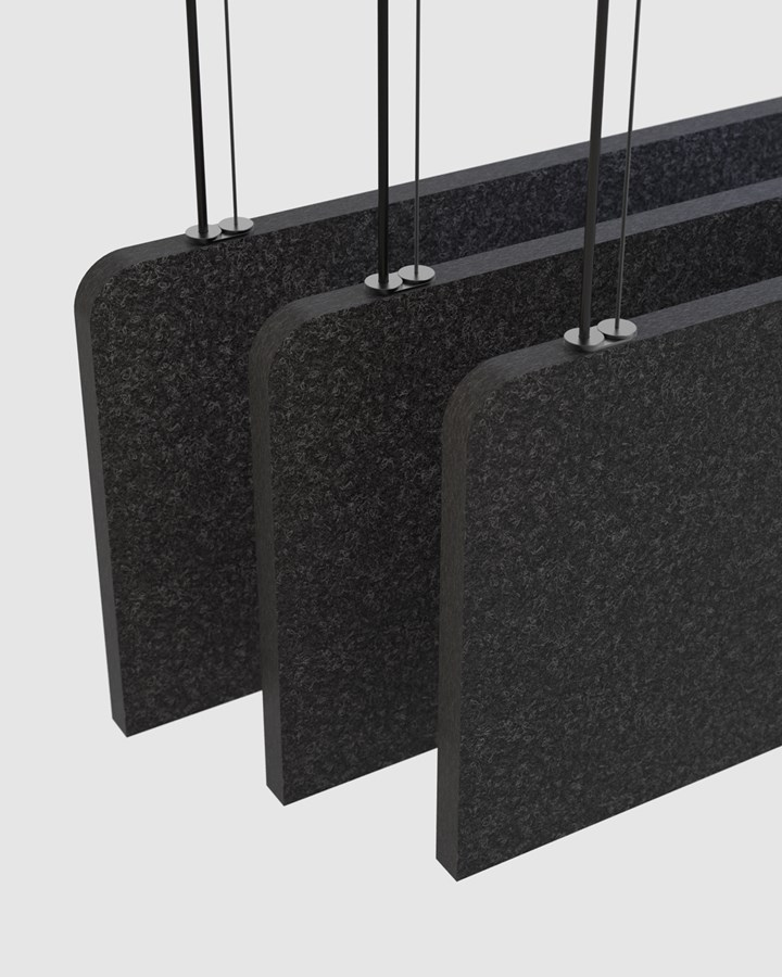 Luxxbox to Show Blade Acoustic Pendant Light at NeoCon
