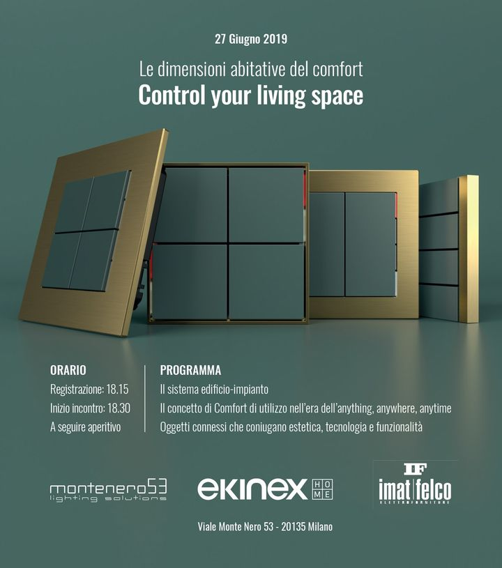 'Le dimensioni abitative del comfort: control your living space'