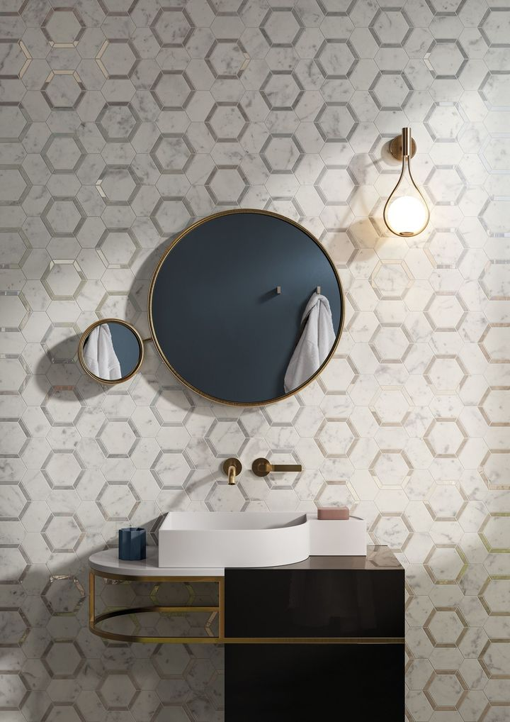 Metallic details, patterns and contrasting finishes