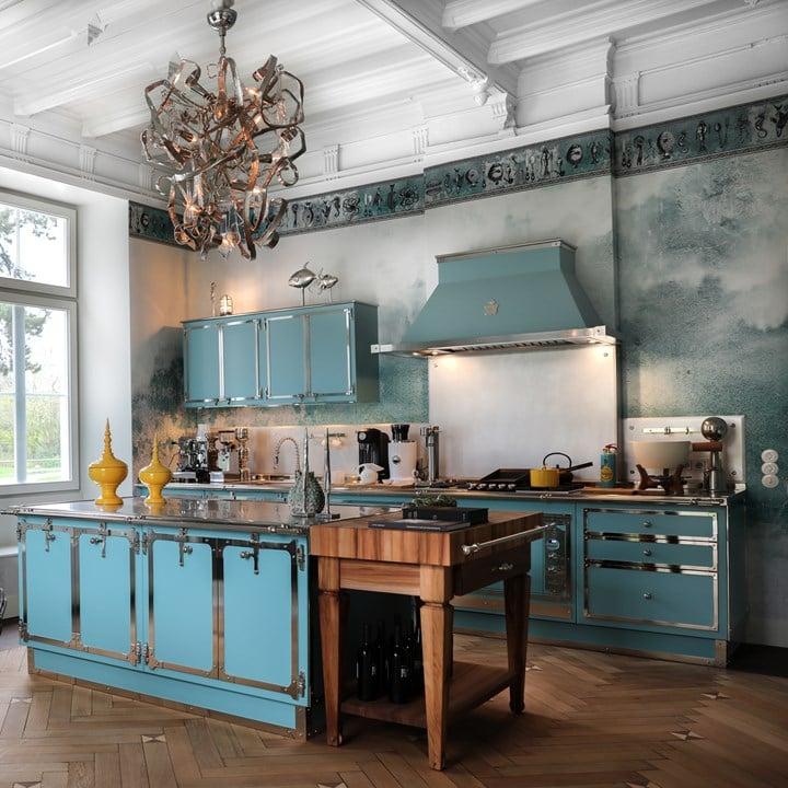 Pastel Turquoise & Satin Nickel, Officine Gullo