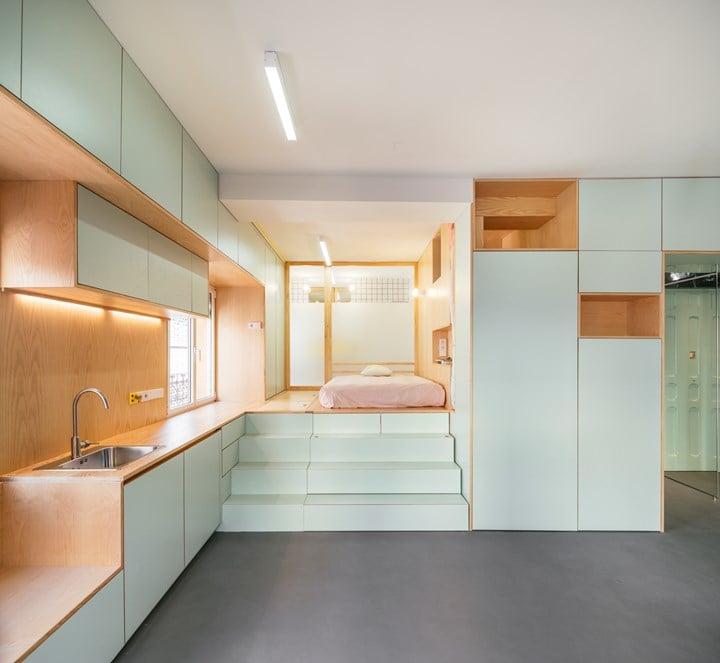 Yojigen Poketto Apartment Madrid, 2017 © elii [oficina de arquitectura], photo Imagen Subliminal–Miguel de Guzmán + Rocío Romero