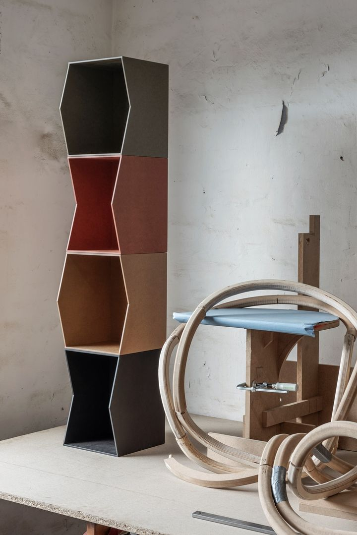 FLIP Shelf: Raw Architectural Design, Sculptiral Expression