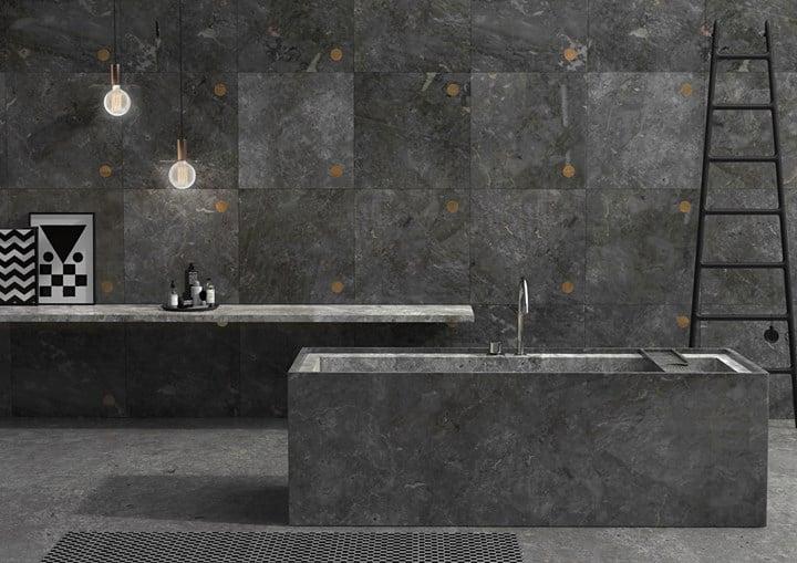Walls_Floors Punto - design Andrea Maffei +  bathub Bath Line collection - design  Monitillo1980