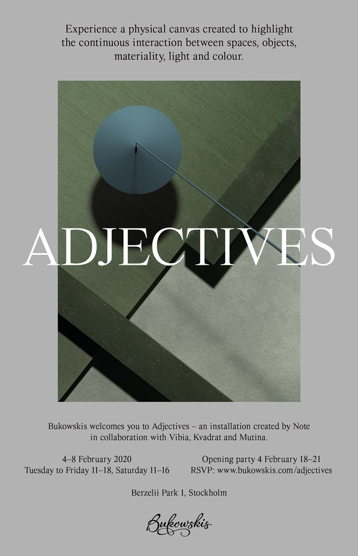 Adjectives by Note Design Studio at SFF