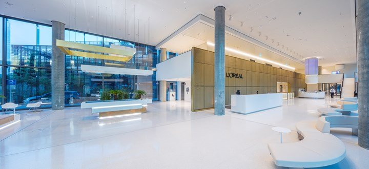 HI-MACS® for the new L'Oréal's HQ in Dusseldorf