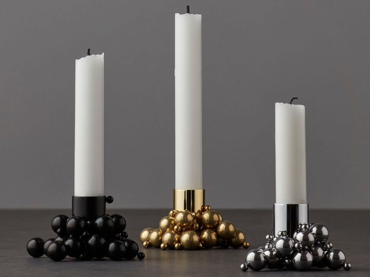 The Candleholder Plays With Materials, Magnets, Shapes and Individuality