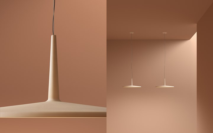 The easy, golden glow of light pink, fading out into mellow brown. Skan Hanging 0275 in NCS S 1010-Y50R against S 4020-Y60R