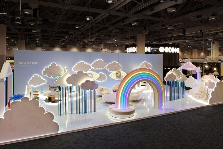 Caesarstone Surfaces Becomes Ethereal Clouds