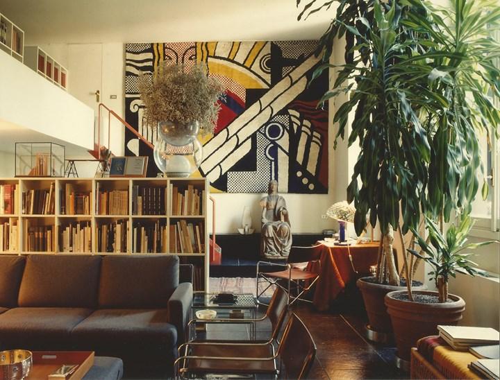 Gae Aulenti's apartment at Via Fiori Oscuri, Milan, 1993 Courtesy of Archivio Gae Aulenti,  photo: © Santi Caleca