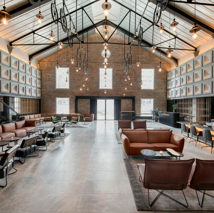 A River Storage of the 1800s Becomes an Industrial-Chic Hotel