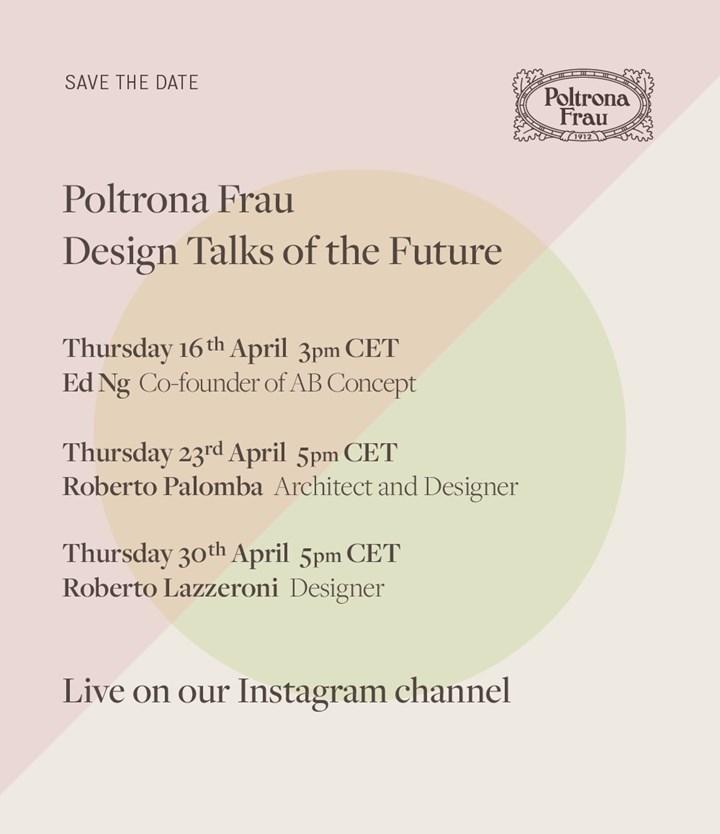 Poltrona Frau 'Design Talks of the Future'