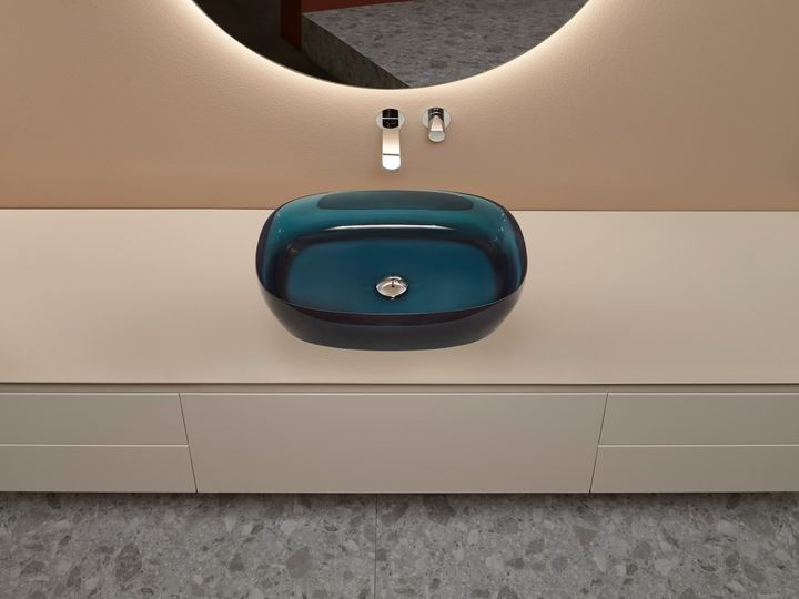 Antoniolupi Washbasins Made by Colored Transparent Resin