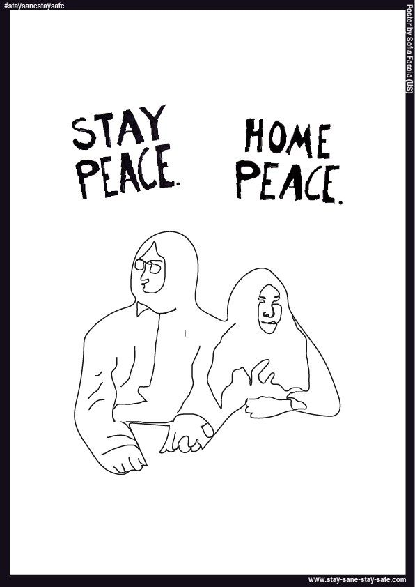Poster by Sofia Fascia - Stay Sane Stay Safe