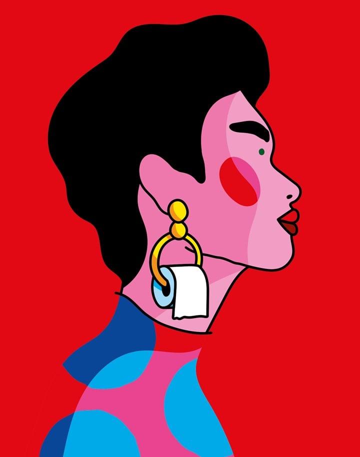Gold toiletpaper - Poster by Xaviera Altena - DAC