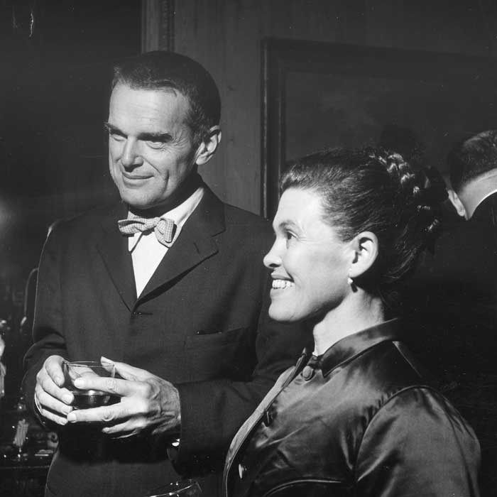 Charles and Ray Eames. Photographed by Sam Lambert, RIBA Collections