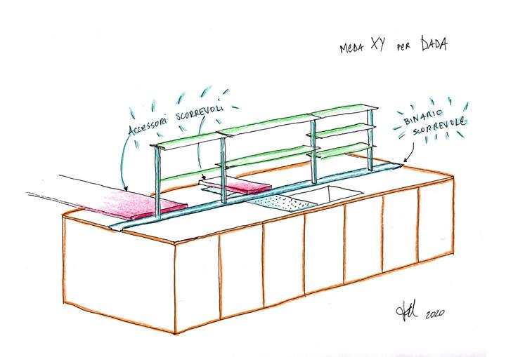 Modular and Flexible. Kitchen According to Francesco Meda