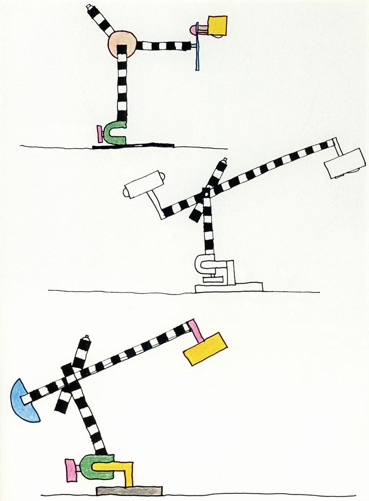 Michele de Lucchi, dessins pour lampes, 1981 © Michele de Lucchi