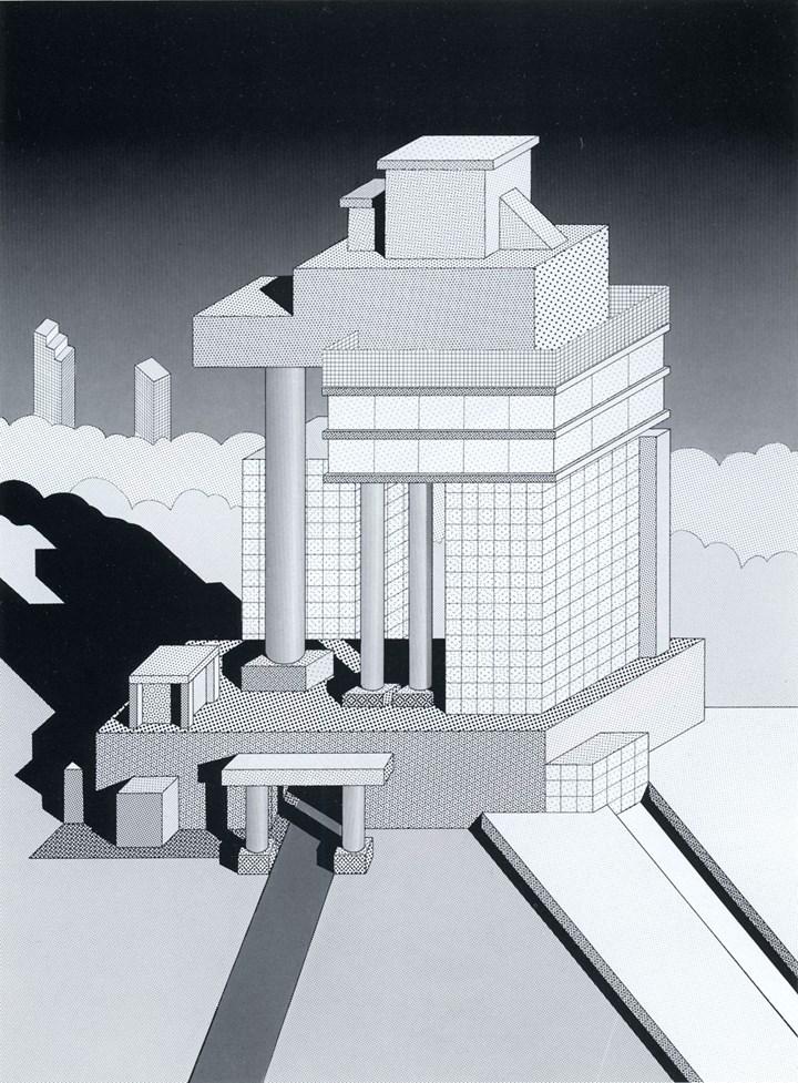 Ettore Sottsass, croquis d'architecture, 1983 © VG Bild-Kunst, Bonn 2021
