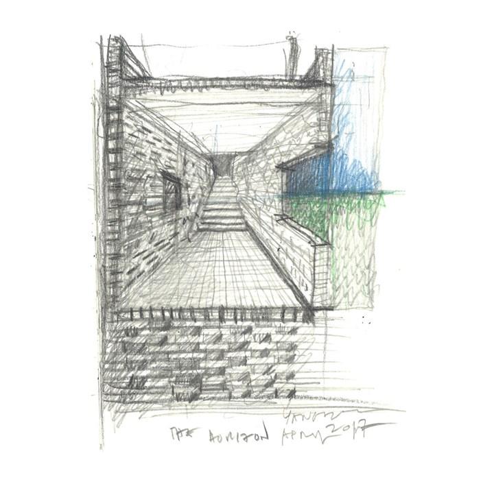 The Walled - Tsingpu Yangzhou Retreat, sketches by Neri&Hu