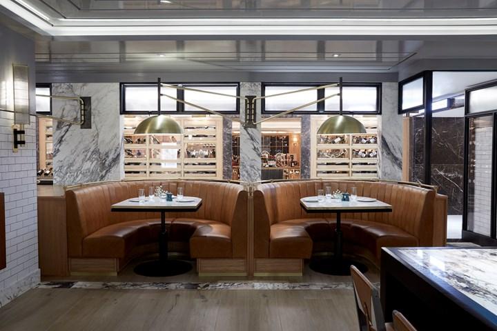 Meyer Davis_The Harrods Brasserie_Dining Banquettes
