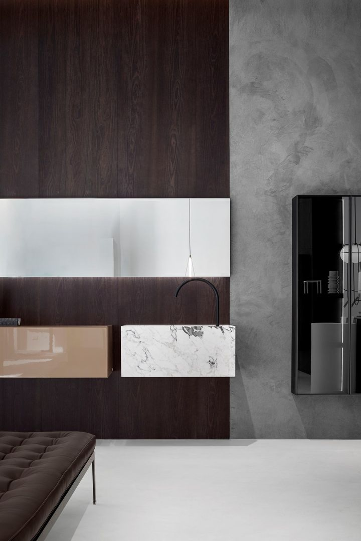 Essentiality and Sculptural Shapes: the Falper Bathroom