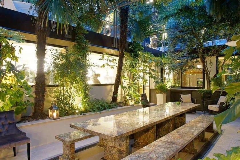 Fine Work Marble Alfresco Table