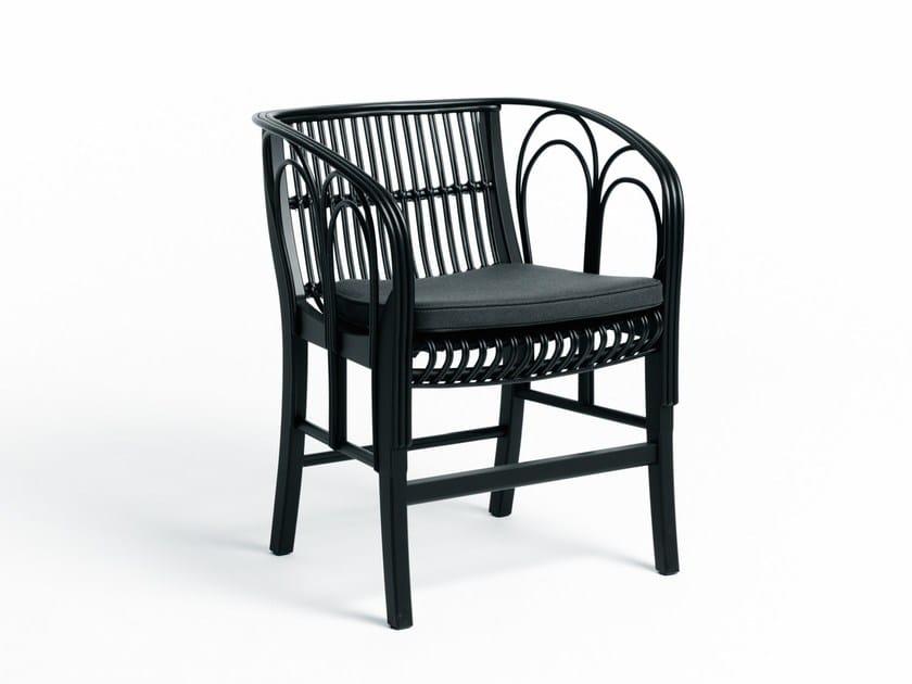 Sedia in midollino con braccioli URAGANO By DE PADOVA ...