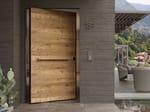 Pivot safety door