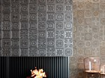 Ceramic wall tiles with metal effect