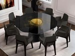 Contemporary style round stainless steel table
