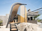 Stainless steel patio door