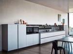 Cucina componibile lineare senza maniglie in melaminico