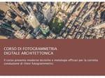 corso di fotogrammetria digitale architettonica