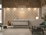 Porcelain stoneware wall/floor tiles with textile effect