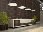 Polystyrene wall tiles with wood effect