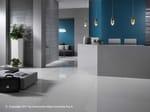 Porcelain stoneware flooring with concrete effect