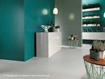 White-paste wall tiles with concrete effect