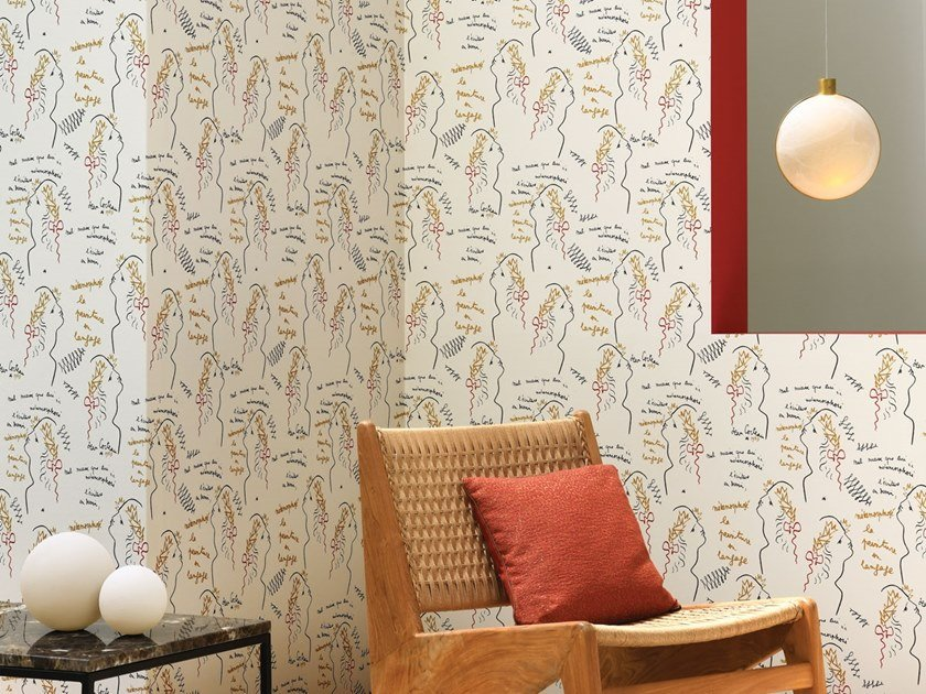 Motif vinyl wallpaper ÉCRITURE by LELIEVRE