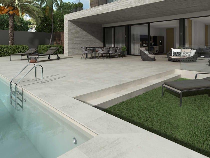 Pavimento de gres porcelánico efecto cemento ÓPERA IVORY by Exagres