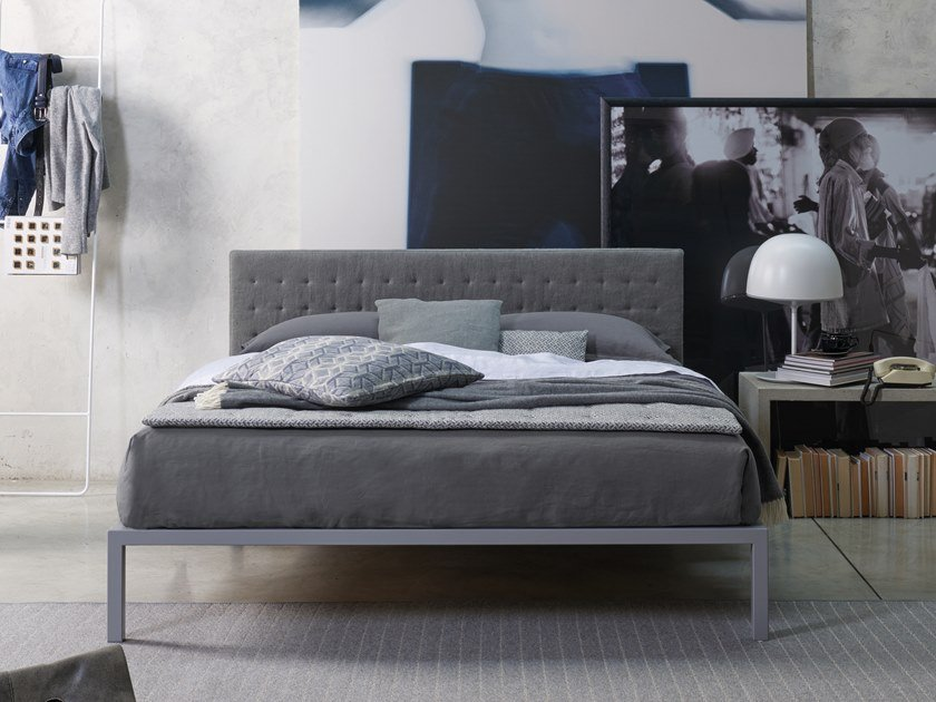 Double bed with upholstered headboard HYPNOS by Dorelan