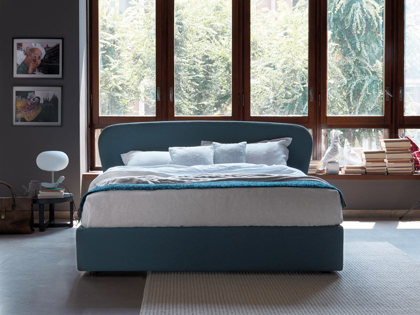 Double bed with upholstered headboard ORIGAMI by Dorelan