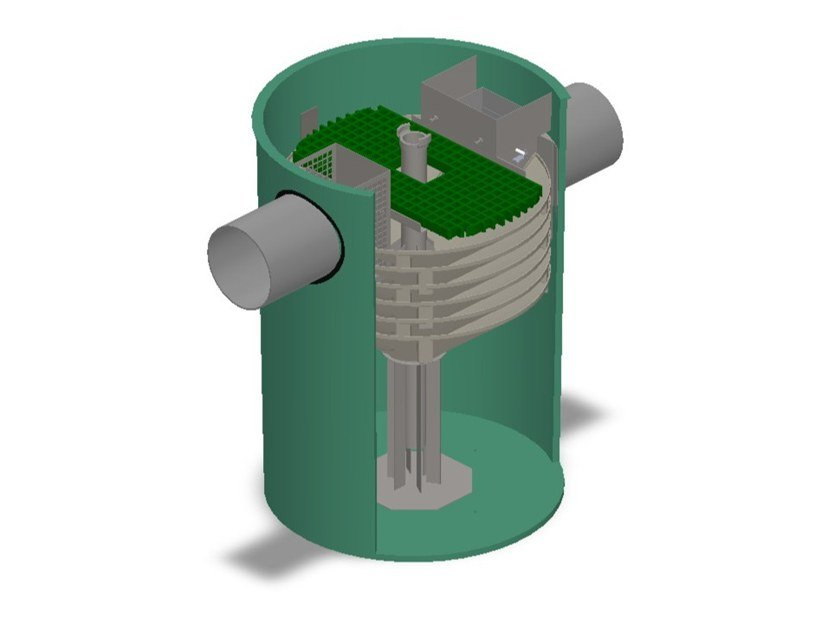Oil separator, de-oiler and grease separator 00 by Betoncablo